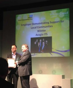 photo of avagio collecting vcs award