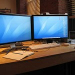 photo of two monitors