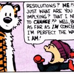 a calvin and hobbes cartoon about resolutions